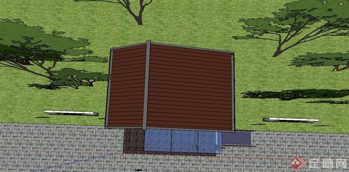 某公园公共厕所设计SU模型(4)