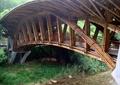 木廊橋,河流景觀,景石,觀賞草