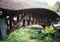木廊橋,河流景觀,草本植物,度假村景觀
