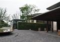 地面铺装,水池景观,植物墙,住宅景观