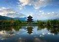 濱水景觀,景觀塔,塔樓,旅游景觀,度假村景觀