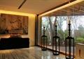 木架,台灯,玻璃窗,桌椅,形象墙,商业空间