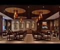 餐桌椅,吊灯,天花吊顶,装饰画,隔断墙,地面铺装,餐厅