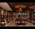 餐桌椅,天花吊顶,吊灯,柜台,酒柜,形象墙,餐厅