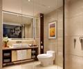 镜子,马桶,洗手台,花瓶插画,卫生间