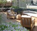 沙發,坐凳,木地板,種植池,花卉植物,庭院景觀