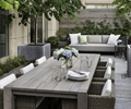 餐桌椅,花瓶插花,沙发,树池,种植池,庭院景观