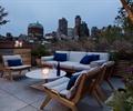 沙发茶几,种植池,地面铺装,屋顶花园,庭院景观