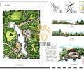 河流景观,木平台,园路,草坪,景观树,木栈道,广场景观