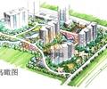 办公环境,办公建筑,道路,植被,水体景观