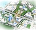 办公环境规划,道路,植被,办公建筑