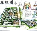 住宅景观规划,道路,建筑,水体景观