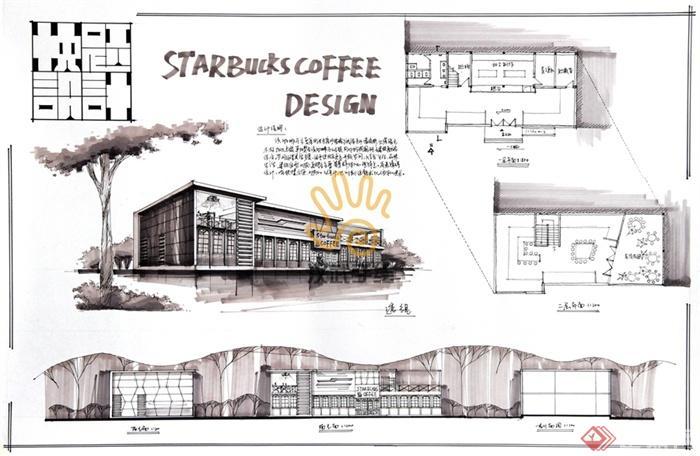 咖啡店,餐饮店,餐饮建筑