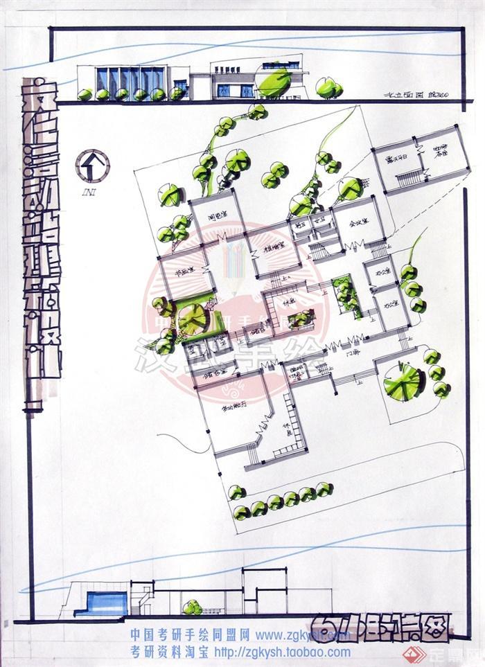 服务中心,商业建筑,办公建筑,多层建筑
