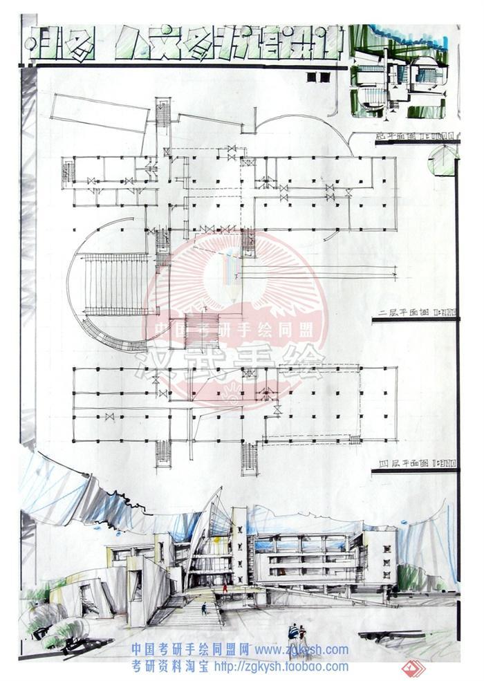 文化建筑,图书馆,多层建筑,信息中心