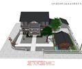 客棧建筑,兩層客棧,中式客棧,亭子,景觀樹