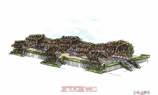 四川攀枝花坝区景观廊架设计