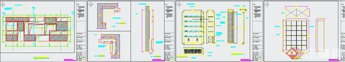 清新工业风纹绣美甲店装修设计3DMAX模型+JPG效果图+CAD施工图(8)