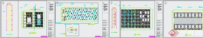 清新工业风纹绣美甲店装修设计3DMAX模型+JPG效果图+CAD施工图(9)