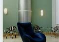 椅子,单人沙发,壁灯,茶几,脚凳