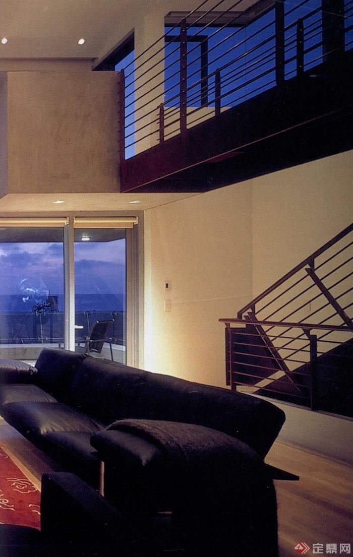 沙发座椅,楼梯扶手,室内装饰