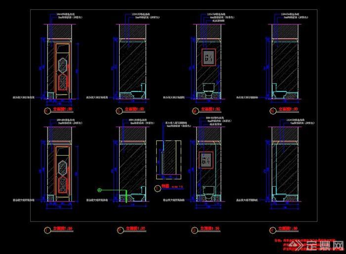 歐式公共女衛生間室內設計方案(帶效果圖)(5)