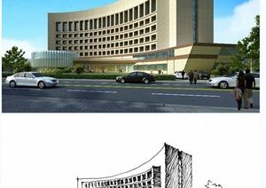 建筑设计JPG手绘图纸