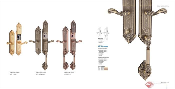 指纹锁,门锁,门把手