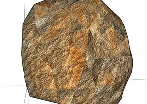 多种景石石头SU(草图大师)模型
