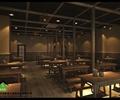 餐桌椅,装饰柱,餐具,天花吊顶,地面铺装,餐厅