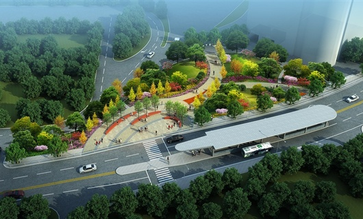 宜昌夷陵区政府辅广场景观设计