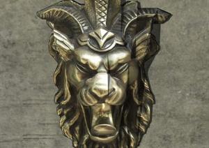 狮子头浮雕SU(草图大师)模型