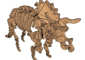 动物雕塑SU(草图大师)模型