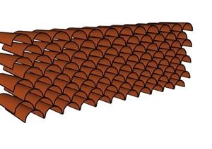 屋面材料SU(草图大师)模型