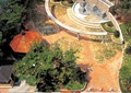 庭院,喷泉水池,景墙,凉亭,彩砖铺装