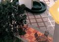 地面拼花,桌椅组合,地面铺装