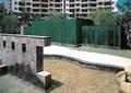 喷泉水池景观,水景墙,卵石水池,景石,园路