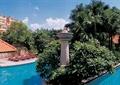 树池池塘,雕塑小品,水钵台,亭子,水池铺装