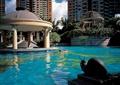 游泳池景观,亭子,雕塑小品,住宅景观