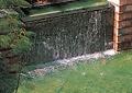 跌水水池景观,喷泉水景,矮墙