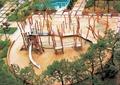 儿童活动中心,儿童游乐设施,儿童游乐场,廊架柱子,地面铺装