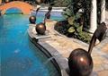 雕塑喷泉,雕塑小品,雕塑水景,景观小品,地面铺装
