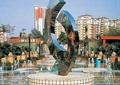 雕塑,雕塑水池,喷泉水景,抽象雕塑