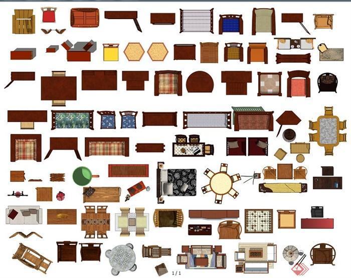 50多款中式家具ps平面素材(1)