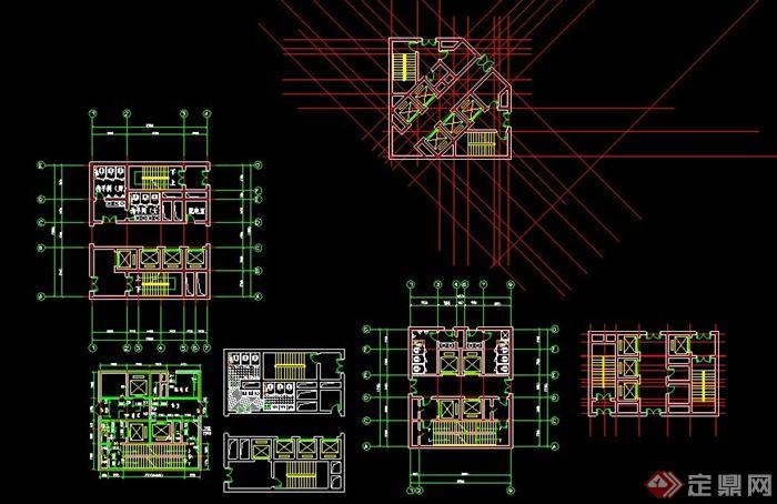 几种高层建筑核心筒方案图(2)