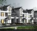 住宅建筑,联排住宅,居住建筑,古建筑,多层住宅,园路,景观树