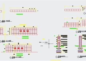 三款景墙设计CAD施工图