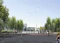 大学校门,大学校区,广场景观