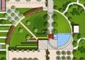 广场景观规划,广场铺装,广场绿化