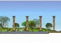 公园景观,公园规划,滨水公园,张拉膜